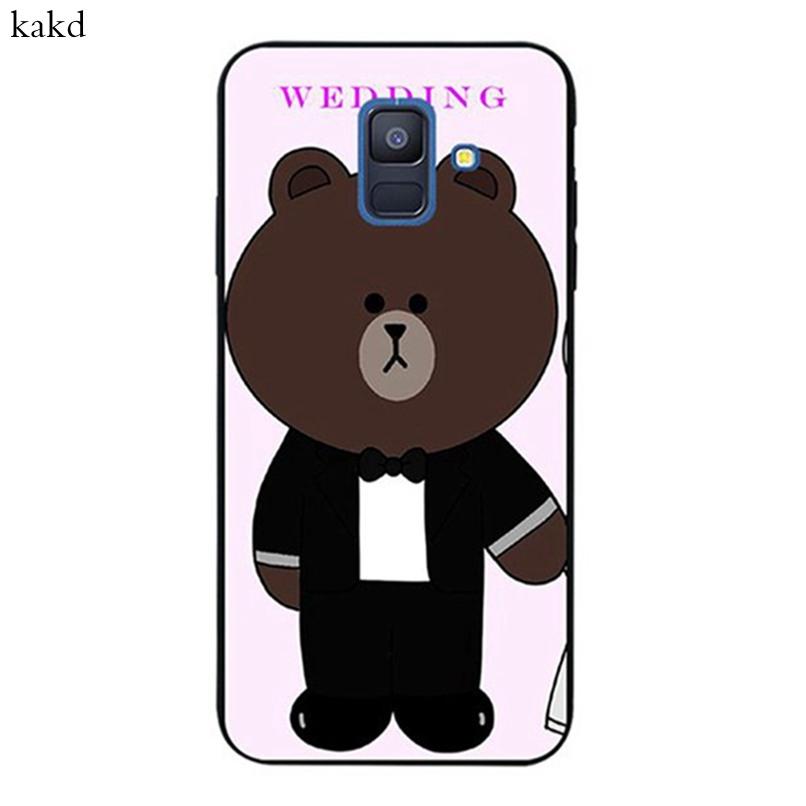 【kakd】 Samsung J2 Note 3 4 5 8 9 A5 A6 A8 A9 Star Pro Plus 2018 Bear Suit Silicon Case