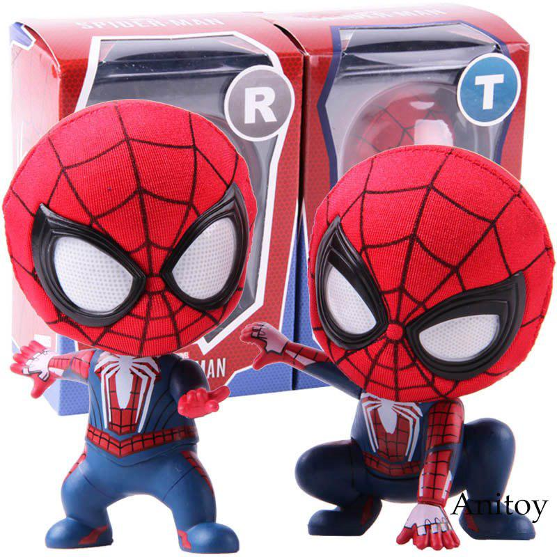 Review ตุ๊กตาฟิกเกอร์ Marvel Spider Man The Spiderman Q Version Mini Action Figure