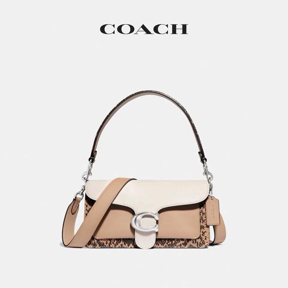 Coach / women's snake detail color blocking tabby 26 shoulder bag Dionysus bag 89972