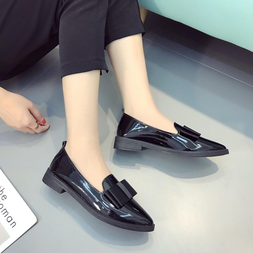รองเท้าคัชชูผู้หญิง⚡️รองเท้าหัวแหลม✨รองเท้าผู้หญิง รองเท้าคัชชู รองเท้าส้นแบนเปิดส้น สีสวย ใส่ไปทำงานได้ ดูหรู ใส่สบาย