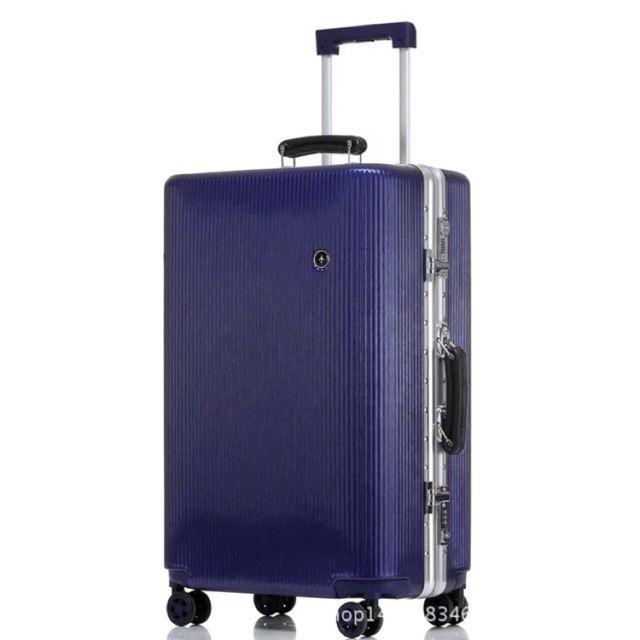 กระเป๋าเดินทาง อลูมิเนียมแบบโค้งขนาด 24 26  นิ้ว