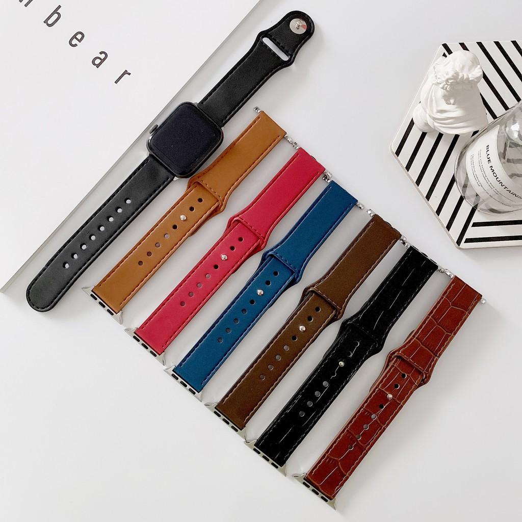 แฟชั่นหนังทั้งสองด้าน apple watch strap iwatch series SE 6 5 4 3 2 1 สาย applewatch 38 40 42 44mm