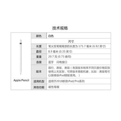 ✈‐ปากกาเขียนด้วยมือApple Apple pencil ปากกาสไตลัสรุ่นที่2ปากการุ่นที่2 applepencil ของแท้