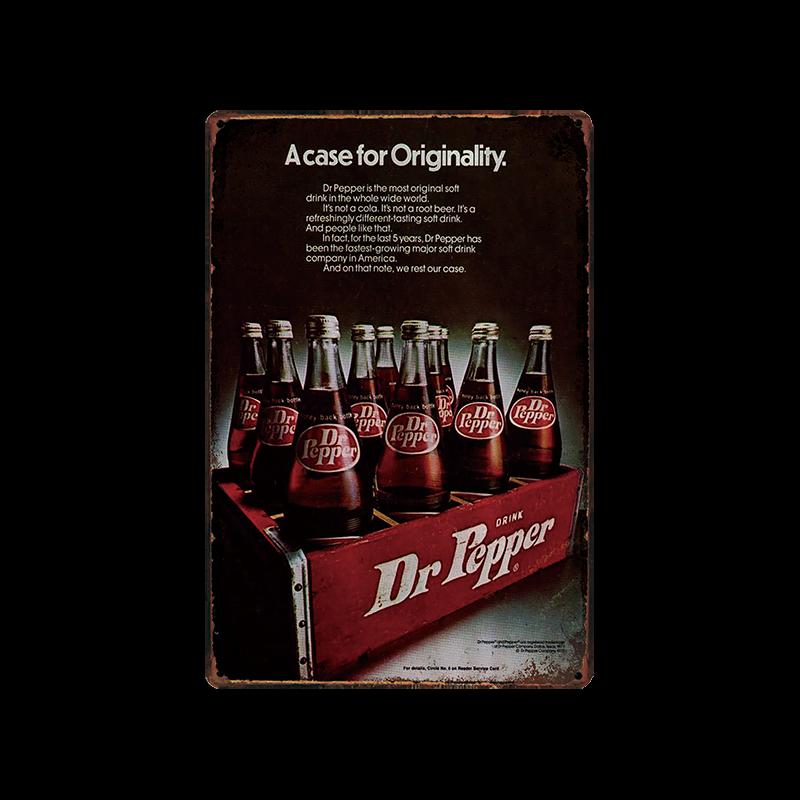 Metal Tin Sign Dr pepper  Pub Home Vintage Retro Poster Cafe ART
