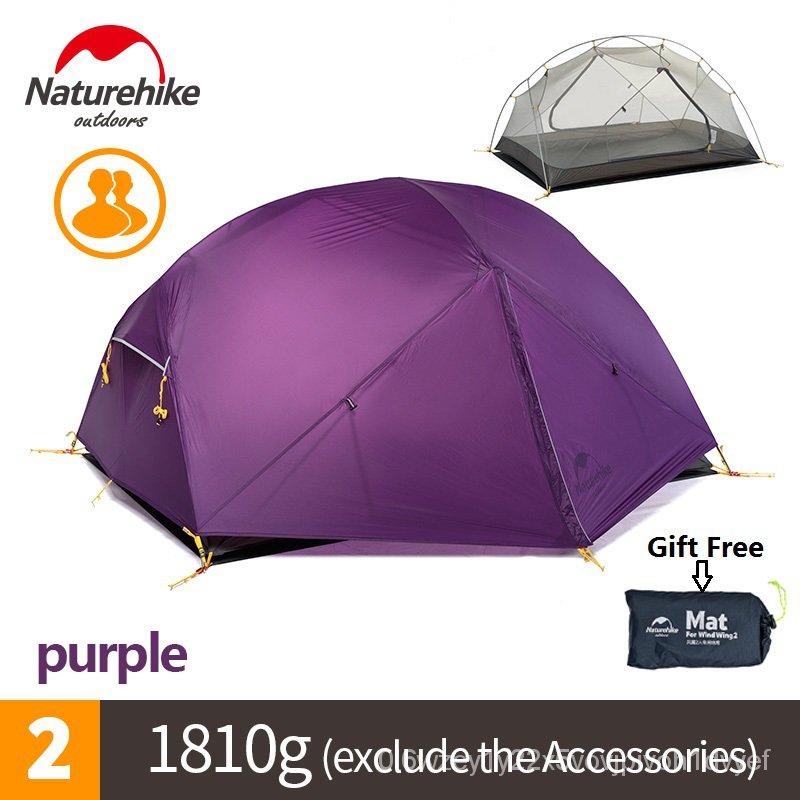 Naturehike Mongar 2 Campingเต็นท์คู่ชั้น2คนกันน้ำUltralightเต็นท์โดม 8C2b
