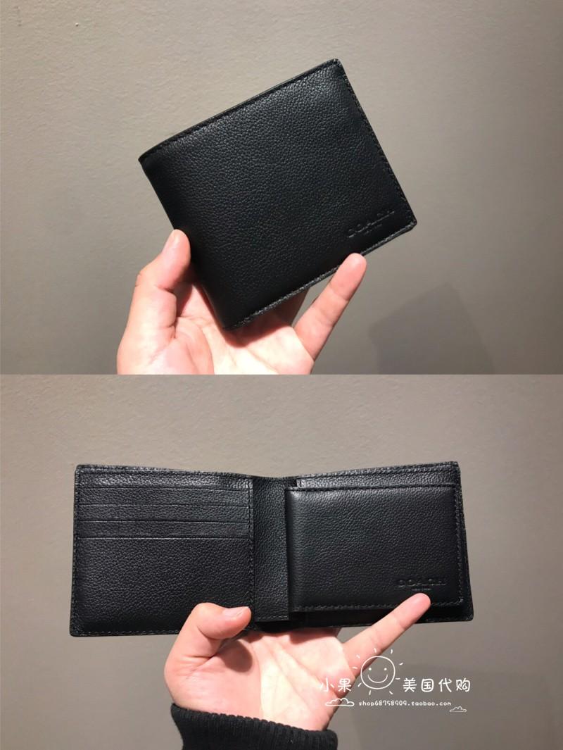 กระเป๋าสตางค์ใบสั้นผู้ชาย Coach Kou Chi Leather ของเซี่ยงไฮ้ซื้อตรงจากเซี่ยงไฮ้ F74634 F7476