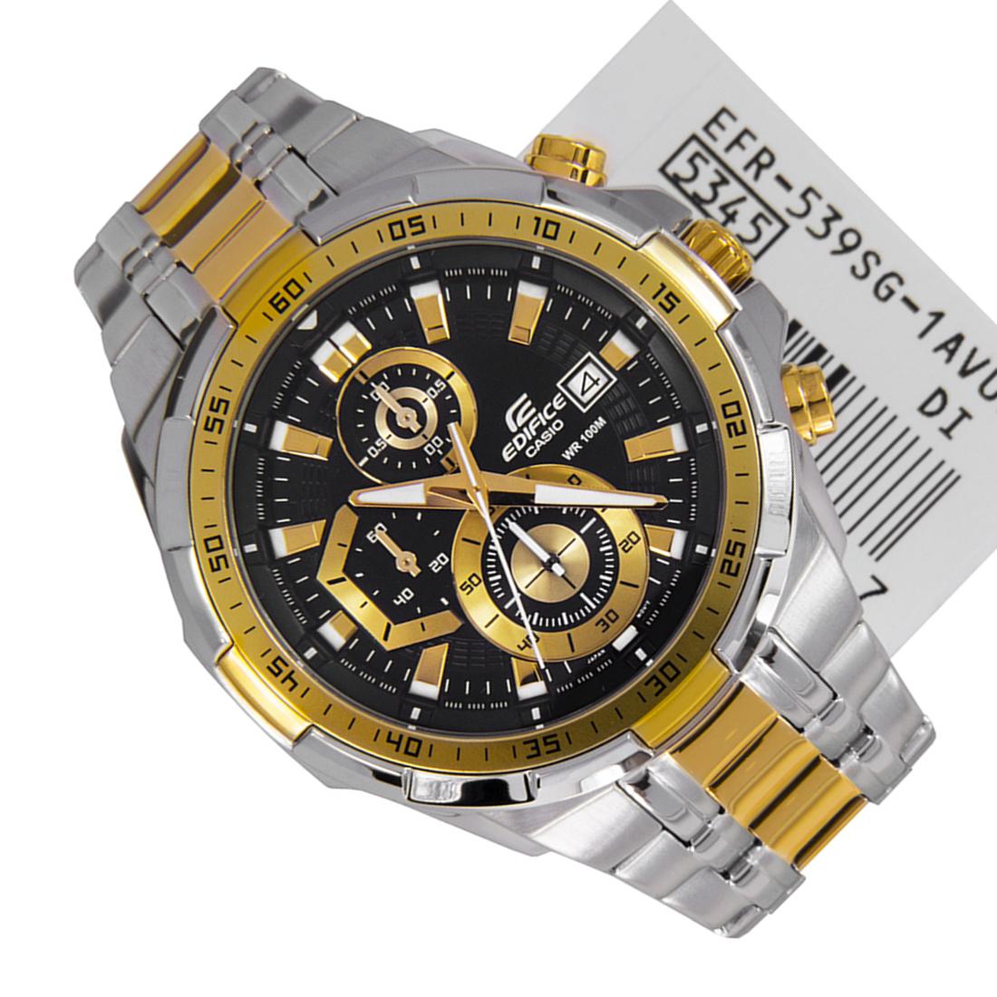 Casio นาฬิกาข้อมือชาย สายสแตนเลส รุ่น EFR-539SG-1A Silver/gold รับประกัน 1 ปี(ของแท้100% ประกันCMG) lhp7
