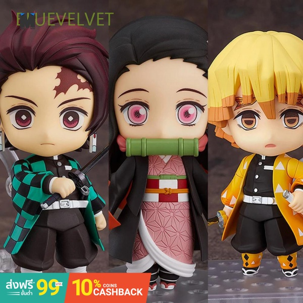 BLUEVELVET Collection Doll Action Figure Toys Demon Blade Toy Figures Anime Demon Slayer Shinobu Kamado Tanjirou Agatsum