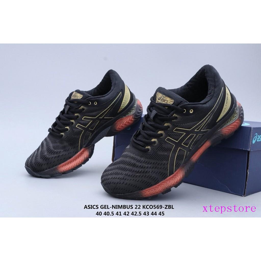 Asics Asics Gel-Nimbus 22 22 รุ่นของมืออาชีพทางไกลทำงานลำลองรองเท้ากีฬากระแทกน้ำหนักเบา