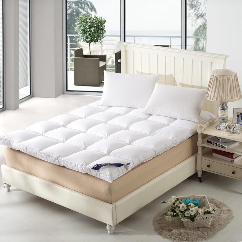 Topper ขนห่านเทียม 3.5ฟุต/5ฟุต/6ฟุต Topper เบาะรองนอน ผ้ารองกันเปื้อน ผ้ากันเปื้อน ปลอกที่นอน