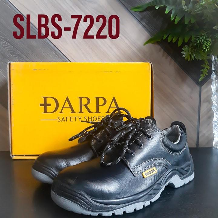 ?[ลดสุดแรงแค่ 7 วัน] รุ่น SLBS-7220 รองเท้าเซฟตี้หัวเหล็ก DARPA SAFETY SHOES (หุ้มส้น) ทำจากหนังแท้+พื้นพียูPUกันลื่น