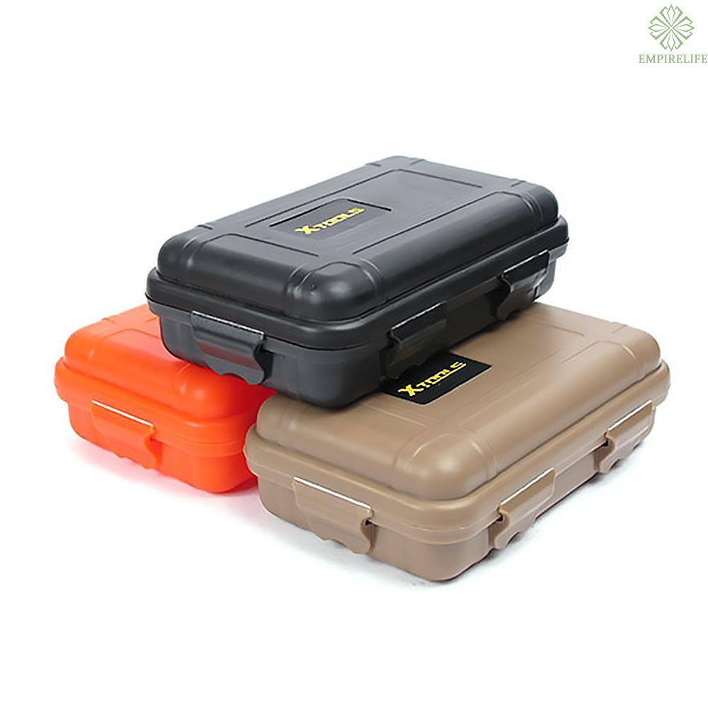 Waterproof Shockproof Outdoor Survival Container Storage Case Dry Box Brown