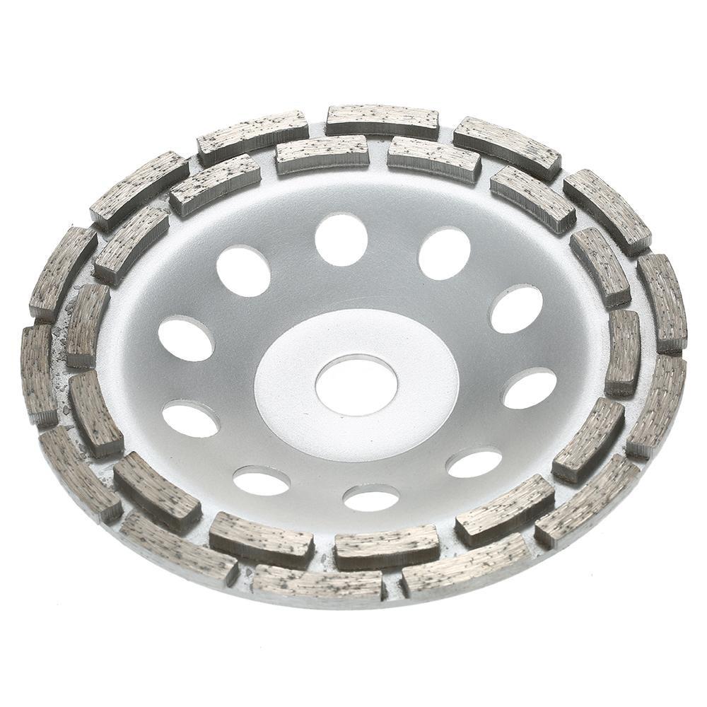 Double Row Diamond Grinding Cup Wheel Marble Concrete Sanding Disc 3 Sizes