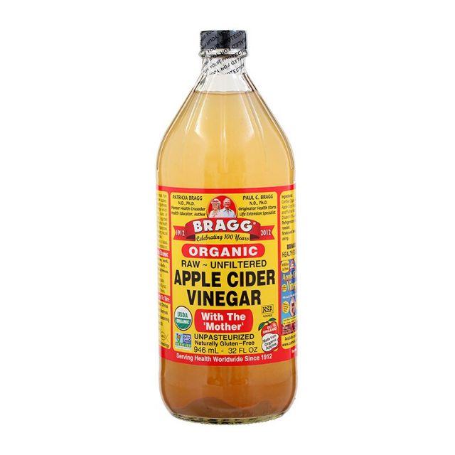 BRAGG Apple cider vinegar 946 ml น้ำส้มสายชูหมักจากแอปเปิ้ล