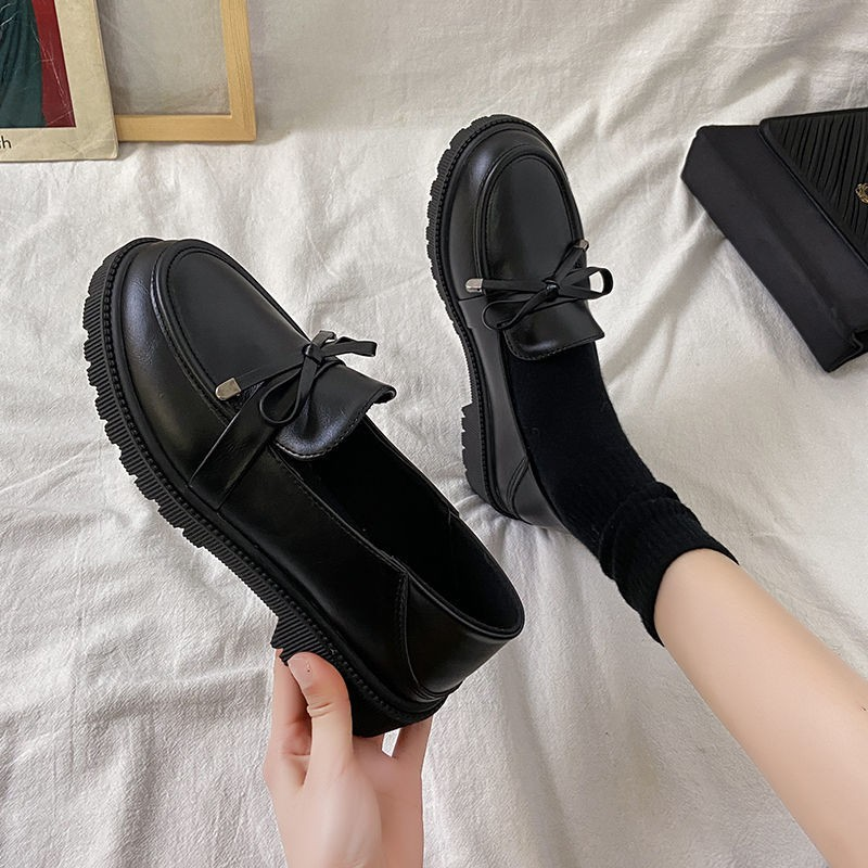 ร้องเท้า รองเท้าคัชชู รองเท้าผู้หญิง ❃British Wind รองเท้า JK ญี่ปุ่นรองเท้าหนังขนาดเล็กนักเรียนเด็กเกาหลี 2021 ใหม่ฤดูใ