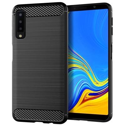 เคสโทรศัพท์ซิลิโคนคาร์บอนไฟเบอร์กันกระแทกสำหรับ Samsung Galaxy A 7 2018 A  750 F / DS SM-A 750 G
