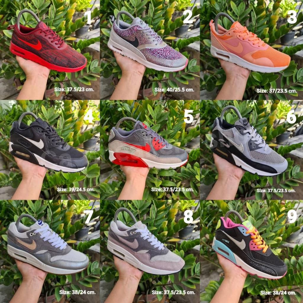 รองเท้ามือสองของแท้/Airmax90/Airmaxone/รองเท้าลำลอง/รองเท้าวิ่ง/แอร์แม๊ก/