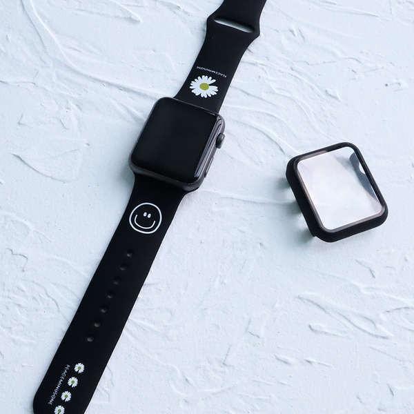สาย applewatch ใช้ได้กับ iwatch5 / 4/3 สายรัดซิลิโคนสาย Apple Watch สาย Applewatch สายรัดสร้างสรรค์