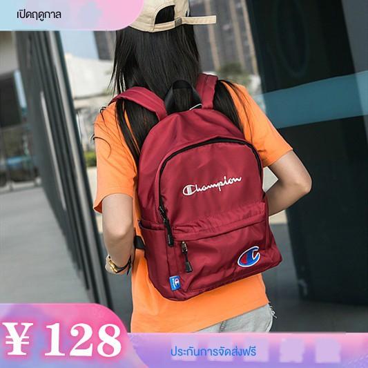 กระเป๋านักเรียนญี่ปุ่น✘✳▬กระเป๋าเป้ CHAMPION แชมป์เปี้ยนแบรนด์น้ำญี่ปุ่นกระเป๋าเป้ความจุขนาดใหญ่คู่กระเป๋าเดินทางผ้าใบน