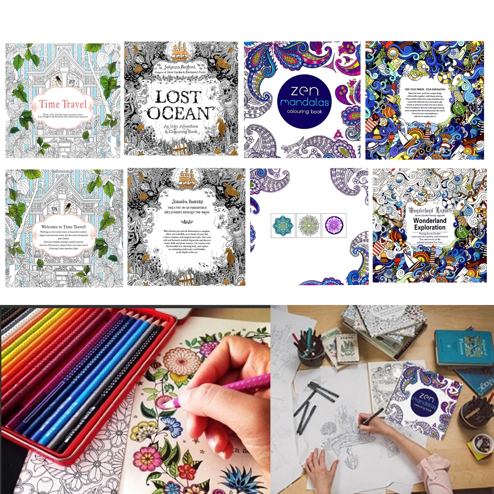SEL♀ New Time Travel Adult Version English Graffiti Coloring Book Kids Painting Books