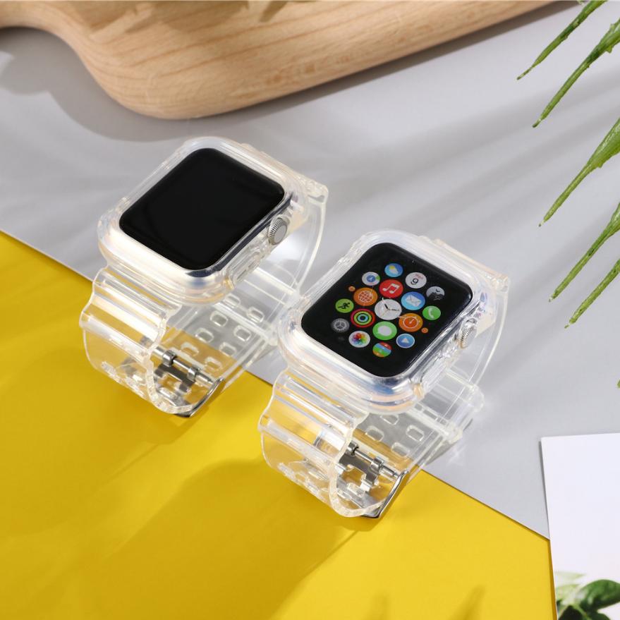 Applewatch 1/2/345se6 สายนาฬิกาข้อมือแบบใสสําหรับ Applewatch