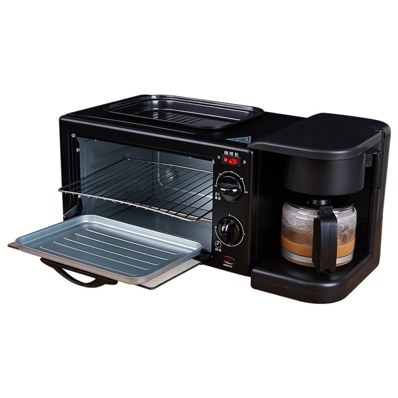 🔥ระเบิดสาม - เครื่องทำอาหารเช้าในบ้านเครื่องทำขนมปังกาแฟมัลติฟังก์ชั่นเครื่องปิ้งขนมปังอัตโนมัติของขวัญ