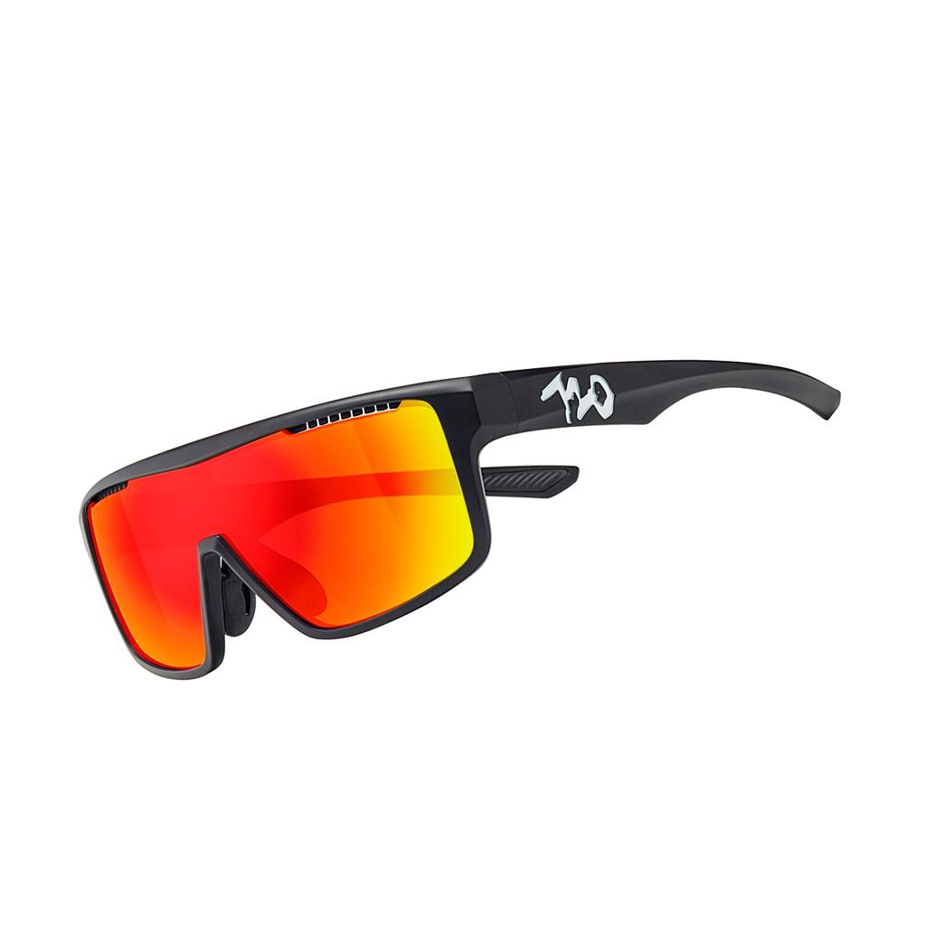 แว่นตากันแดด 720armour รุ่น Alpha สีกรอบ Matte Black สีเลนส์ Smoke Full Red Ti