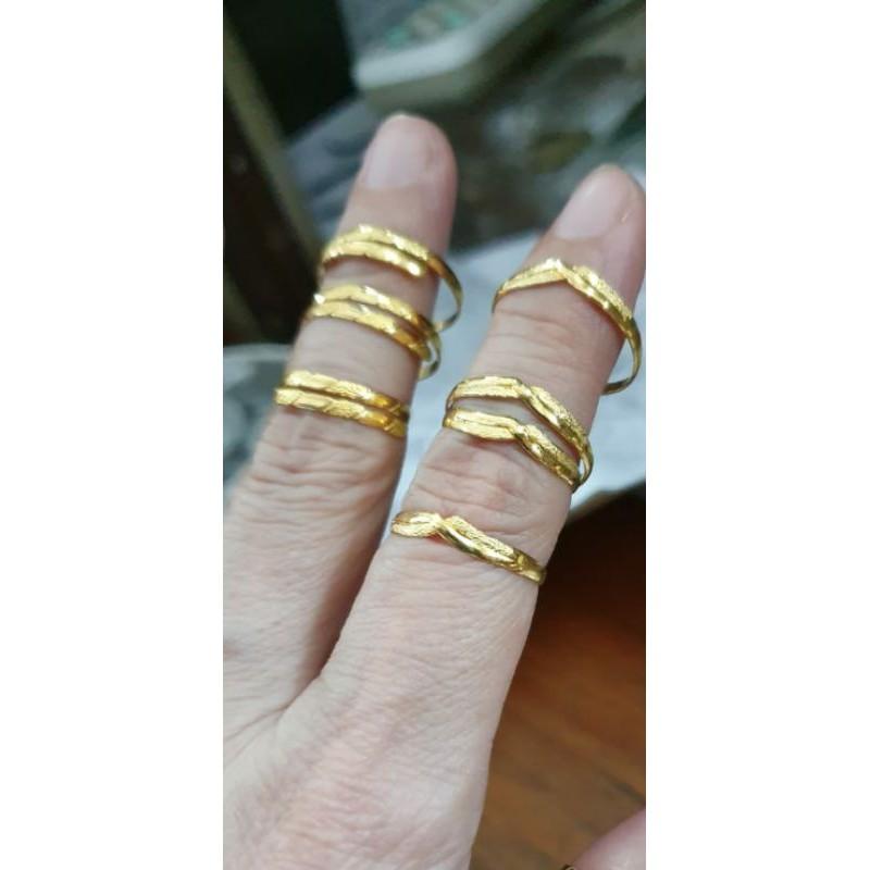 แหวนชุบทอง 1gram 1 กรัม 1 กรัม 24 K 24 Carat 99% 990 ราคาถูก