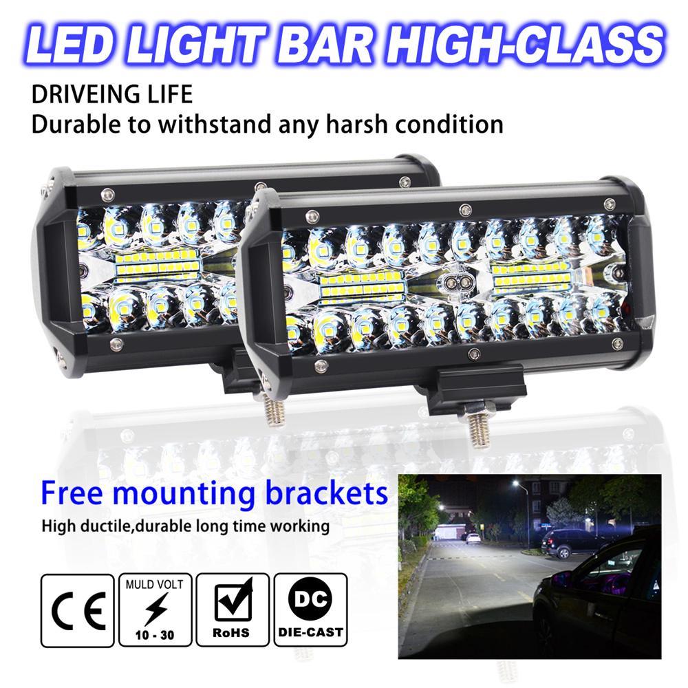 "180W 32/""inch LED Light Bar Combo Work Lamp Offroad UTV 4WD+Wiring Kit+2x 18W Pod"