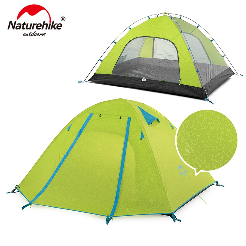 NatureHike P Series Classic Camping Tent 210T Fabric For 3 Persons UPF 50+ NH18Z033-P