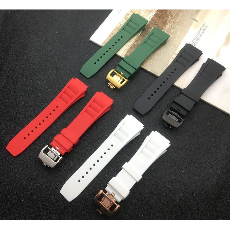 สายนาฬิกาข้อมือซิลิโคน 25 มมสําหรับ richard watch mille
