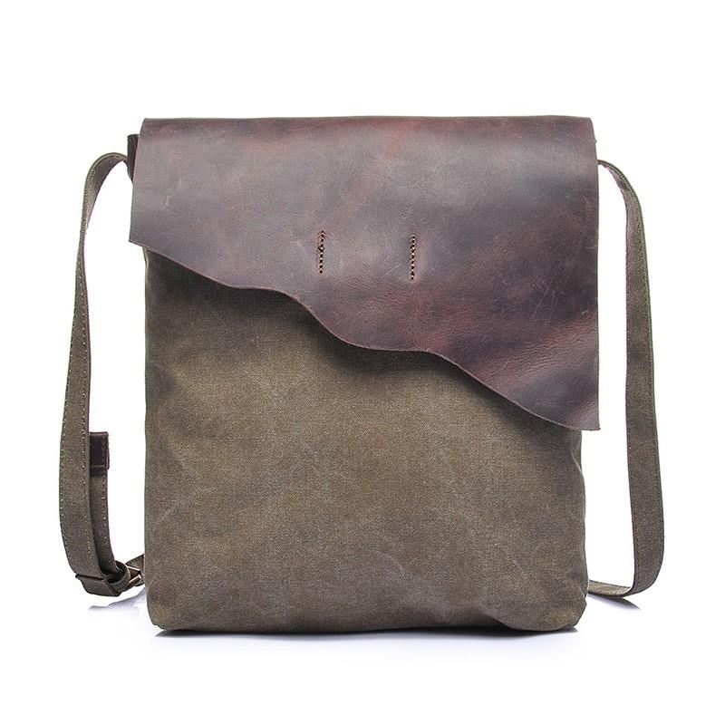 กระเป๋าผ้าแคนวาสผู้ชายกระเป๋าสะพายกระเป๋าผู้ชาย IPAD กระเป๋าเดินทางย้อนยุคกระเป๋าใบเล็ก