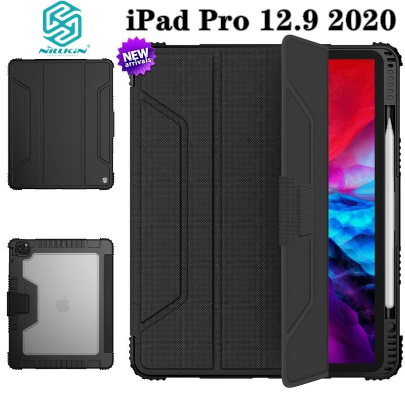 Nillkin iPad Pro 12.9 2020/2018 Flip Cover Smart Case For Apple iPad Pro 11 2020/2018 PC+TPU Case With Pencil Holder For iPad Air4 / iPad 10.9 2020 / 9.7 2018/10.2 2020/10.2 2019 TPU+PC Case