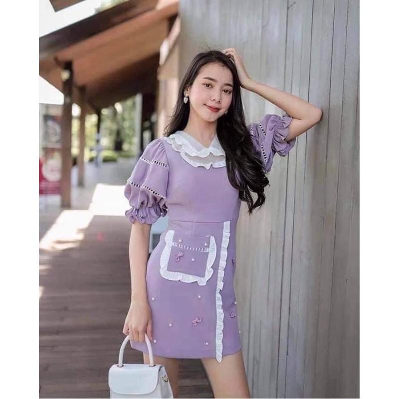 BLT Limited dress สีม่วง XS (New)