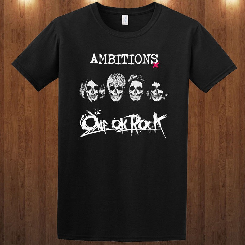 เสื้อยืดคอกลมเสื้อยืดพิมพ์ลาย One Ok Rock Oor Ambitions Tour สําหรับผู้ชาย