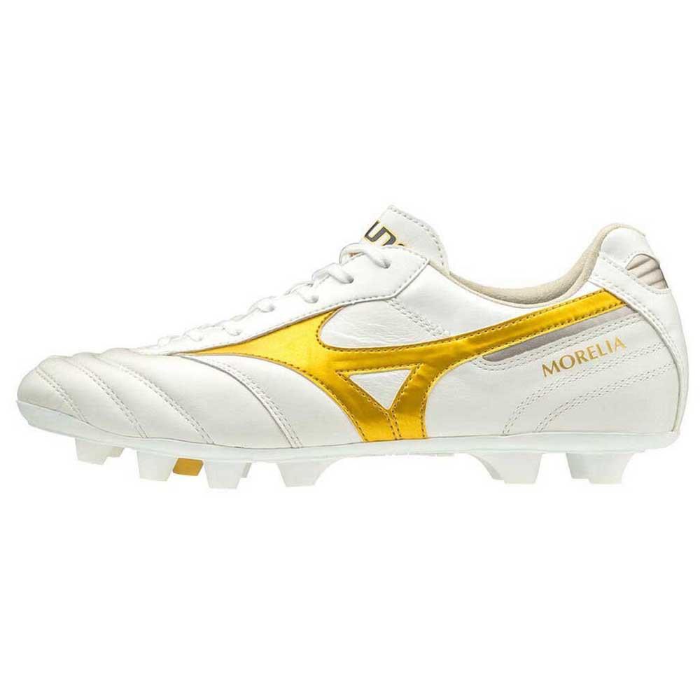 ⚽ รองเท้าสตั๊ด (Football Cleats) ยี่ห้อ Mizuno (มิซูโน) รุ่น Morelia II Pro สีขาว/ทอง รหัส P1GA201350