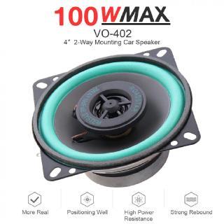 "4/"" 10CM 300 Watt 2-Way Car HiFi Audio Stereo Coaxial Speakers PairTS-1071"