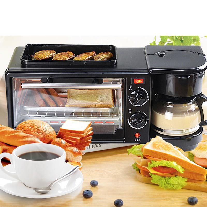 เครื่องปั่นอาหารเด็กGift Toke เตาอบไฟฟ้าอเนกประสงค์เครื่องใช้ในครัวเครื่องชงกาแฟแพนเค้กครัวเรือน 3-in-1 เครื่องทำอาหาร