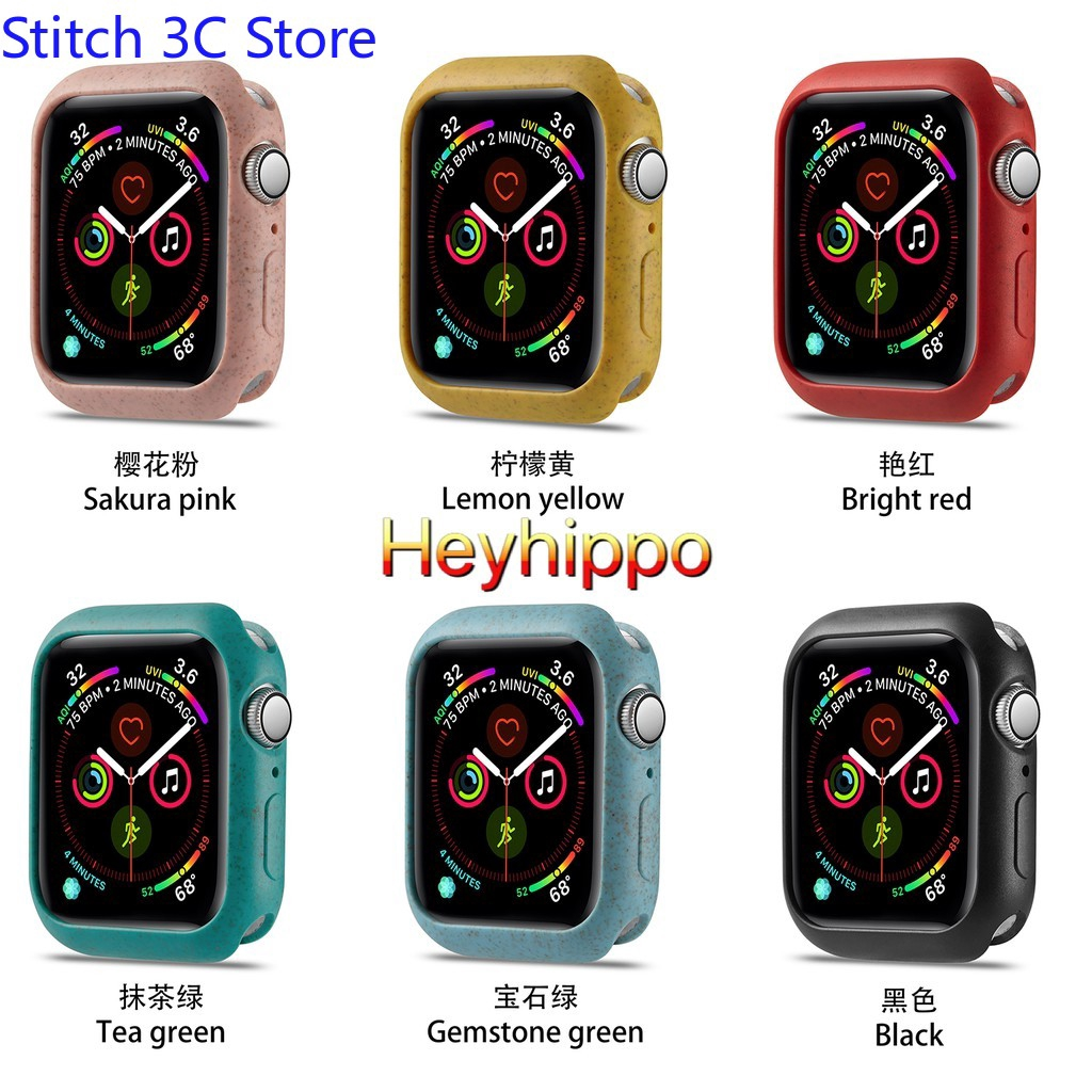 readystock 6 colors Macaron Silicone Protective Case for Apple Watch Series 4 5 40mm 44mm