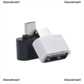 CheeseArrow 2pcs Micro USB Male To USB A 2.0 Adaptador OTG Convertidor Adapter Conv
