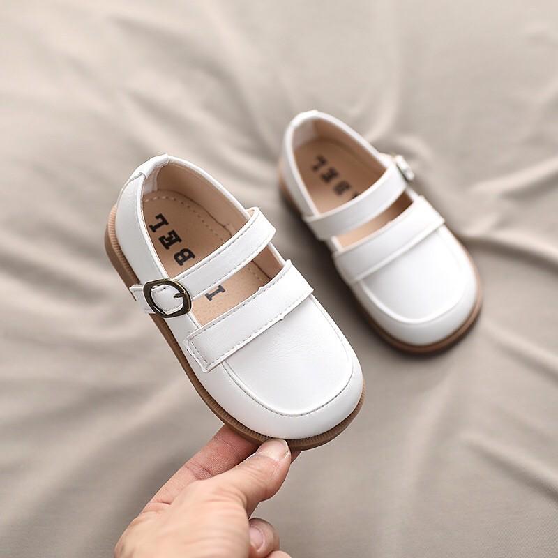 รองเท้าหนังวินเทจเด็ก รองเท้าคัชชูหนัง พร้อมส่ง