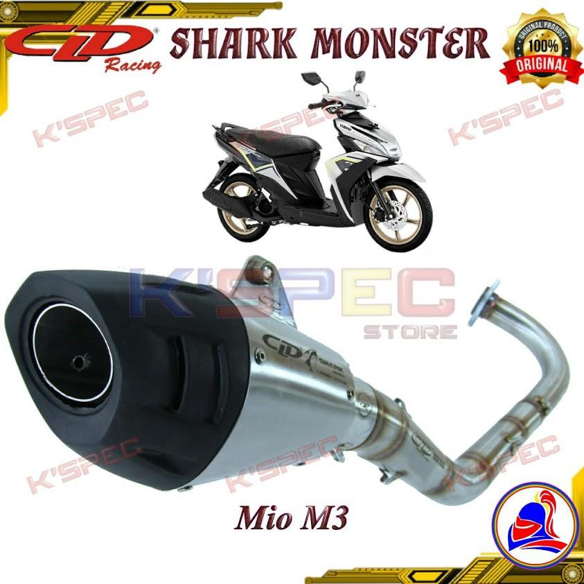ท่อ CLD SHARK MONSTER series MIO M3 125cc Knalpot Racing Full system