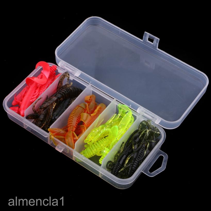10//20Pcs Fishing Shrimp Lure Luminous Silicone Fish Artificial Bait Lure NICE