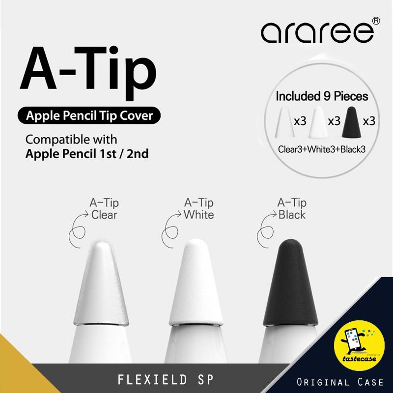 ARAREE A-Tip ปลอกครอบหัวปากกา Apple  Pencil ใช้ได้ทั้ง Apple Pencil 1&2  1 กล่อง มี 9 ชิ้น