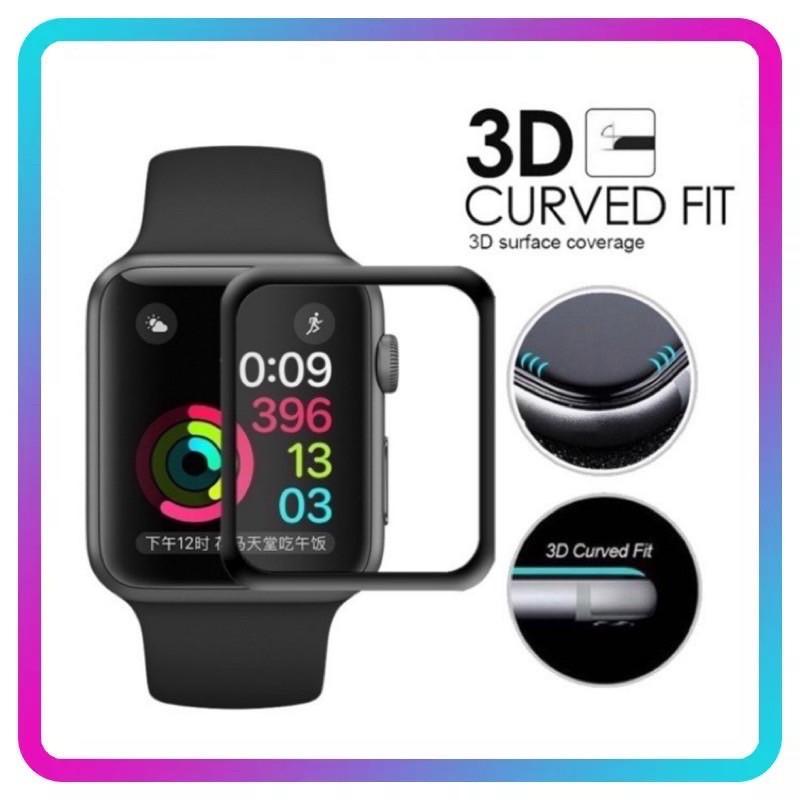 ฟิล์มกระจกนิรภัย 3D ลงโค้ง applewatch Series 6 SE /5 4 / 3 / 2 / 1ฟิล์มกระพลาสติก