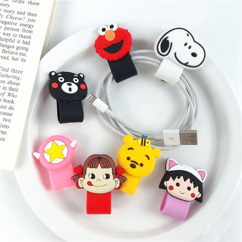 Hero Head//Logo Cord Winder Wire Wrap organizer Holder Cable Ties 8PCS