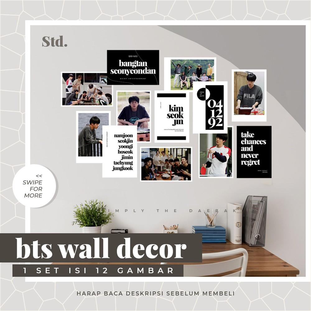 Bts Wall Decor Kpop Poster Aesthetic Minimalist Tumblr Bf Decoration Jungkook V Jimin