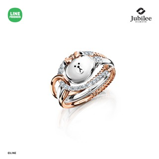 JUBILEE DIAMOND PRINCESS JACKET DIAMOND RING + SWEET DIAMOND RING: CHOCO [รุ่น LINE FRIENDS ลิขสิทธิ์แท้]