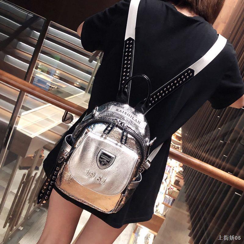 ✣✌❒กระเป๋าเป้หนังแท้ผู้หญิง 2020 กระเป๋าเป้ใบเล็กใหม่อินเทรนด์หนังนุ่มชั้นบนกระเป๋านักเรียนหนังวัวกันขโมยกระเป๋าเดินทาง