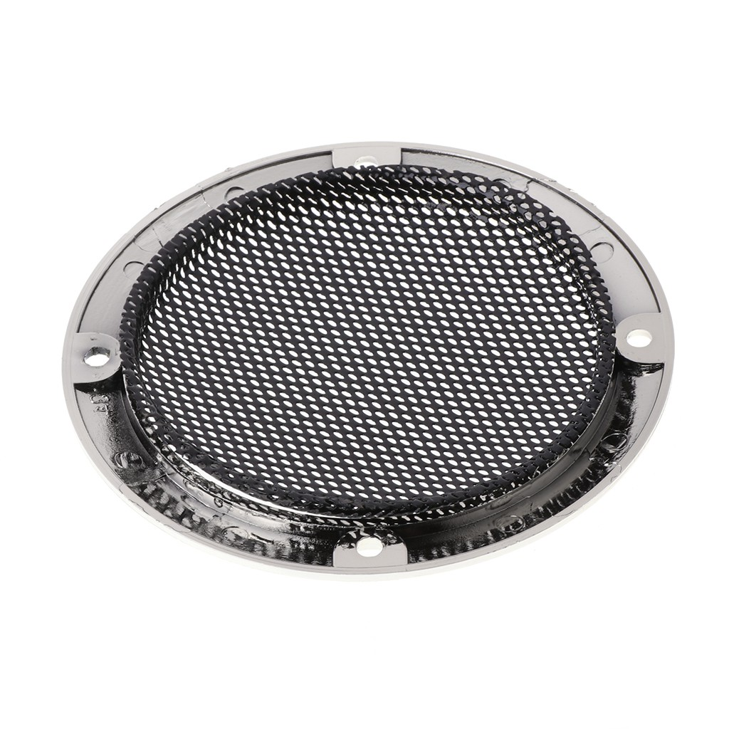 "2pcs 3/"" inch Car Audio Speaker Cover Decorative Circle Metal Mesh Grille #Black"
